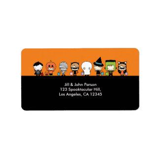 Etiqueta de dirección del fiesta de Halloween
