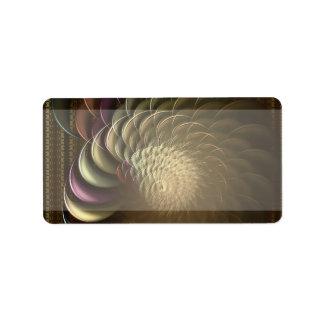Etiqueta de dirección del fractal de la concha
