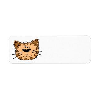 Etiqueta de dirección del gatito