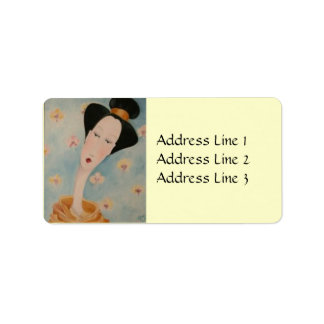 Etiqueta de dirección del geisha