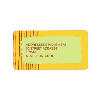 Etiqueta de dirección del limón