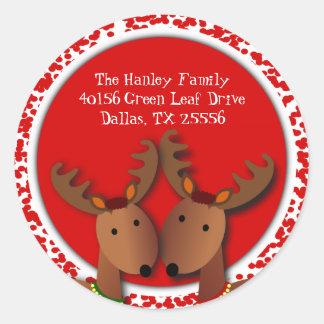 Etiqueta de dirección del navidad de los tintineos