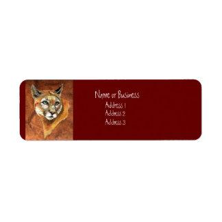 Etiqueta de dirección del puma