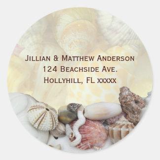 Etiqueta de dirección del Seashell