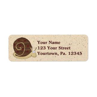 Etiqueta de dirección del snail mail
