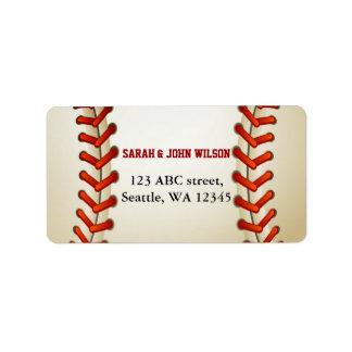 Etiqueta de dirección del tema del béisbol del fie