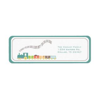 Etiqueta de dirección del tren del bebé