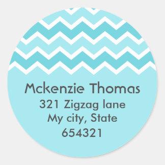 Etiqueta de dirección del zigzag del modelo de zig