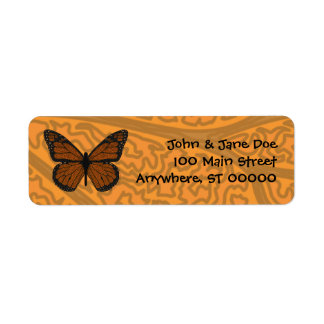 Etiqueta de dirección Doodled del monarca