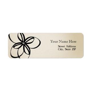 Etiqueta de dirección floral moderna