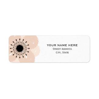 Etiqueta de dirección francesa rosada del boda de