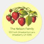 Etiqueta de dirección fresca de las fresas