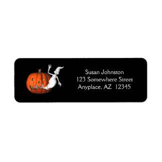 Etiqueta de dirección linda de Halloween de la