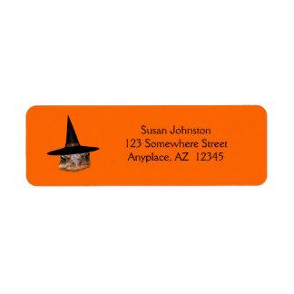 Etiqueta de dirección mala de Halloween de la cara