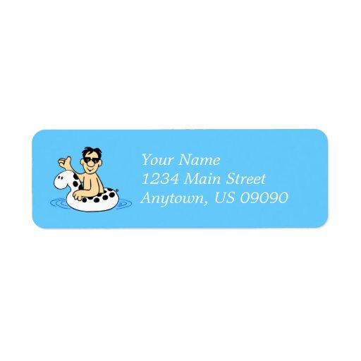 Etiqueta de dirección masculina de la fiesta en la