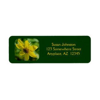 Etiqueta de dirección menuda de la flor del giraso