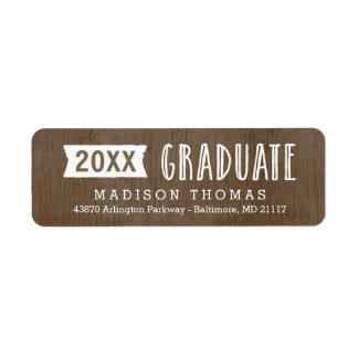 Etiqueta de dirección natural de la graduación del
