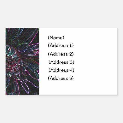 Etiqueta de dirección negra del crisantemo