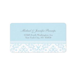 Etiqueta de dirección personalizada damasco elegan