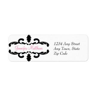 Etiqueta de dirección personalizada elegante