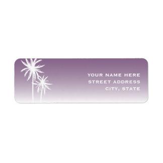 Etiqueta de dirección púrpura de Ombre y de las pa