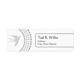 Etiqueta de dirección religiosa de la paloma de la