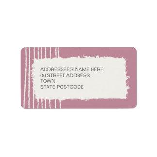 Etiqueta de dirección rosada