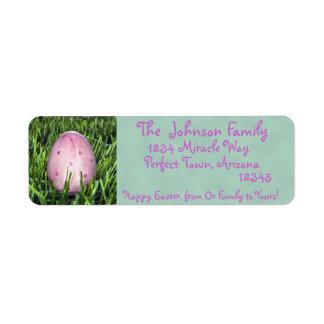 Etiqueta de dirección rosada bonita del día de