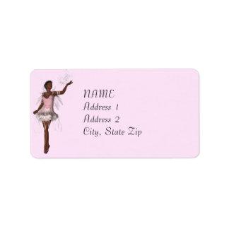 Etiqueta de dirección rosada de encargo de la