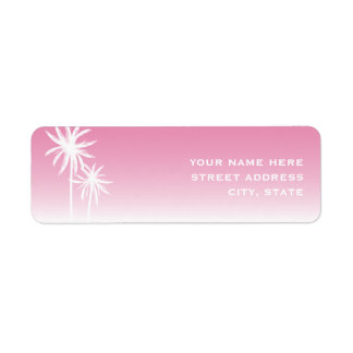 Etiqueta de dirección rosada de Ombre y de las pal