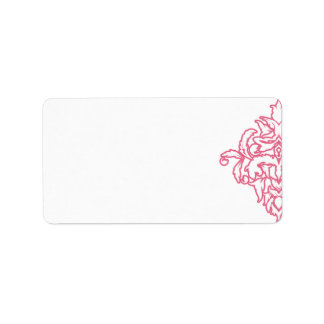 Etiqueta de dirección rosada del damasco de la mad