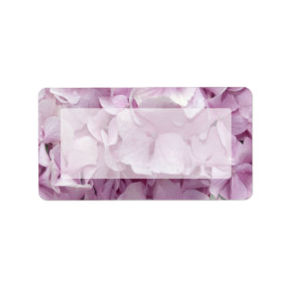 Etiqueta de dirección rosada suave del Hydrangea