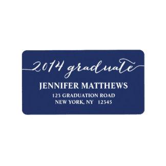 Etiqueta de dirección simple de la graduación de l