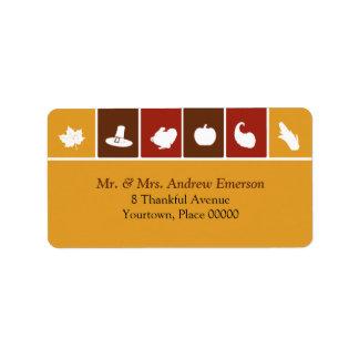 Etiqueta de dirección simple de los iconos de la a