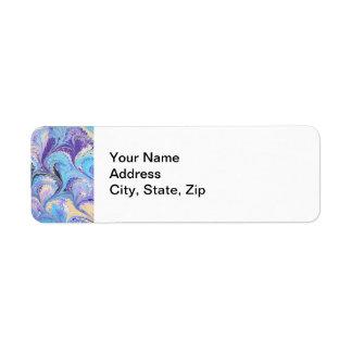 Etiqueta de dirección veteada