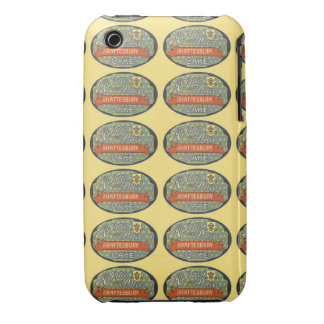 Etiqueta de empaquetado de la torta de Shaftesbury iPhone 3 Case-Mate Coberturas