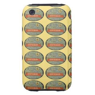 Etiqueta de empaquetado de la torta de Shaftesbury Tough iPhone 3 Cárcasas