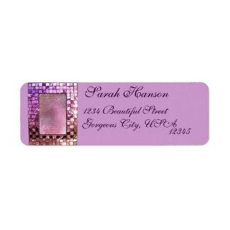 Etiqueta de encargo chispeante elegante del marco etiqueta de remite