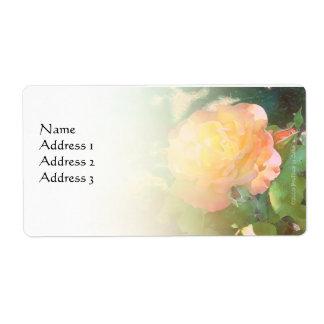 Etiqueta de encargo color de rosa anaranjada clara etiquetas de envío