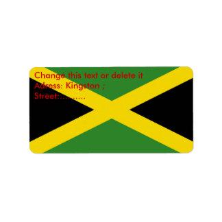 Etiqueta de encargo con la bandera de Jamaica Etiquetas De Dirección