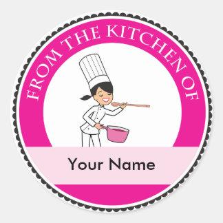 Etiqueta de encargo de la panadería del cocinero