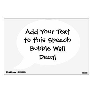 Etiqueta de encargo de la pared de la burbuja del