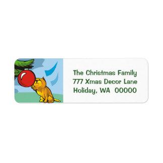 Etiqueta de encargo de la tarjeta de felicitación etiqueta de remite