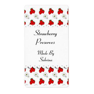 Etiqueta de encargo de las fresas y de las flores etiqueta de envío