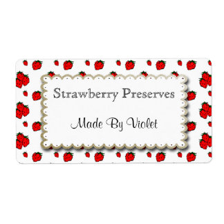 Etiqueta de encargo de las fresas y de las flores etiquetas de envío