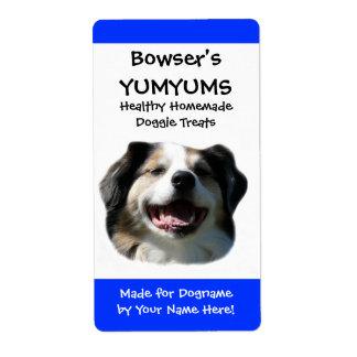 Etiqueta de encargo de las invitaciones del perro etiquetas de envío