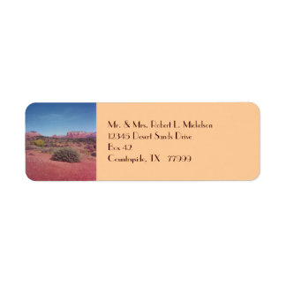 Etiqueta de encargo de Vista Avery del desierto Etiqueta De Remite