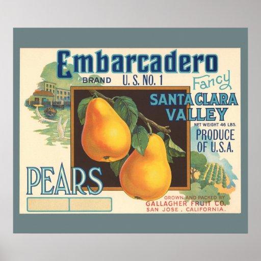 Etiqueta DE ENCARGO del cajón del vintage de las p Poster