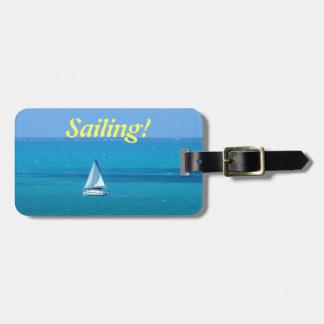 Etiqueta de encargo del equipaje de la navegación etiqueta de maleta