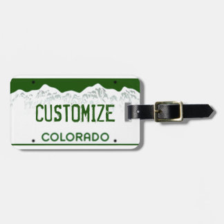 Etiqueta de encargo del equipaje de la placa de Co Etiqueta De Maleta